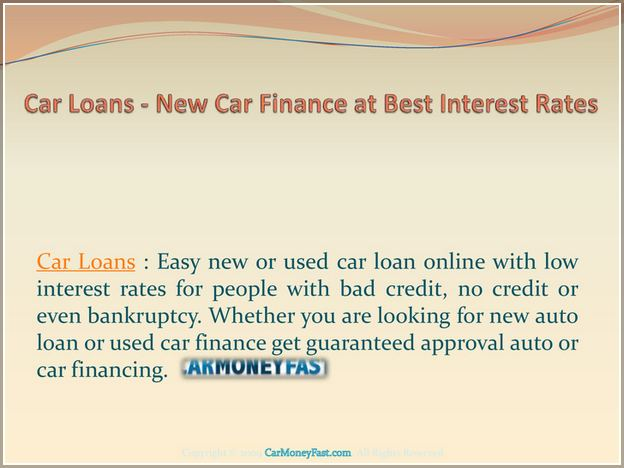Best New Car Loan Rates April 2019