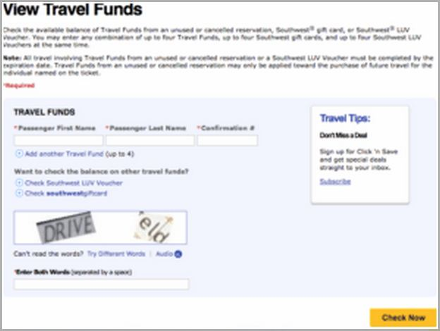 Southwest Travel Funds Expiration